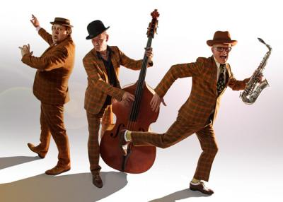 Geweldigde swing en Jump & Jive muziek
