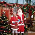 Op de foto met de kerstman.